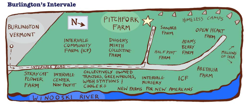 Map of Burlilngton's Interval